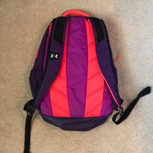Under Armour Bags - UNDER ARMOUR Purple   neon pink backpack 71f6a3b4700e6